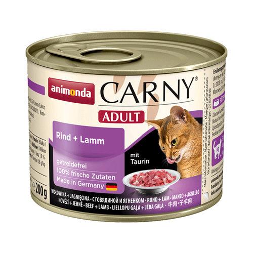 Animonda Carny Adult Katzenfutter - Dosen - Rind & Lamm - 6 x 200 g
