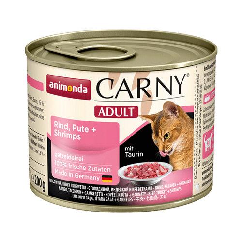 Animonda Carny Adult Katzenfutter - Dosen - Rind, Pute & Garnelen