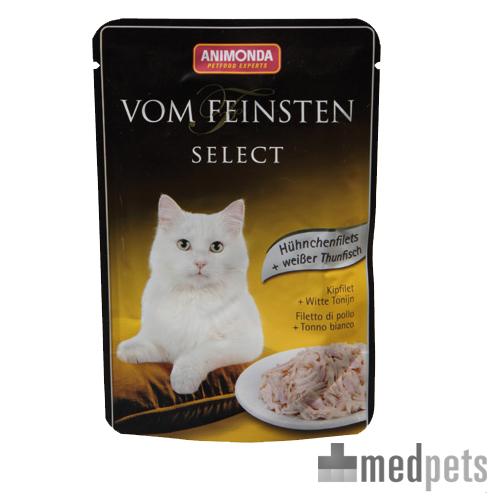 Animonda Vom Feinsten Katzenfutter - Frischebeutel - Hühnchenfilet & Weißen Thunfish