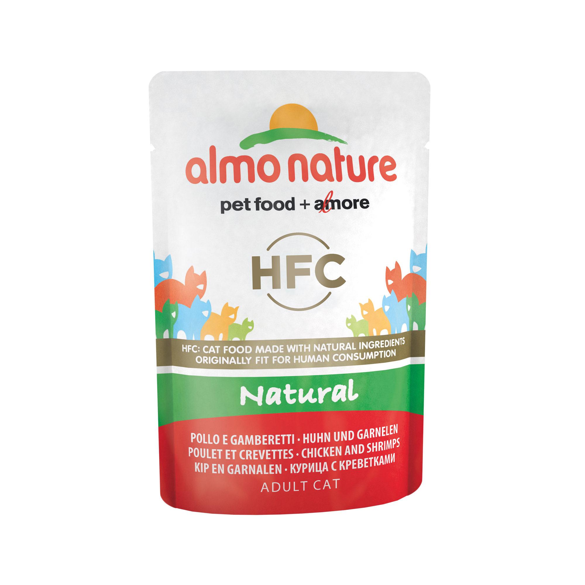 Almo Nature HFC Natural Katzenfutter - Dosen - Huhn & Garnelen