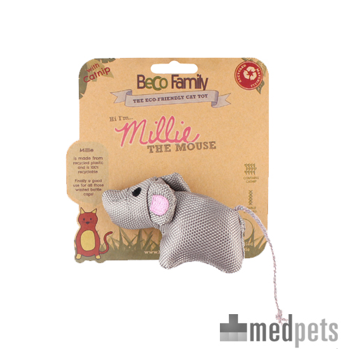 Beco Family for Cats Catnip Toys - Millie the Mouse