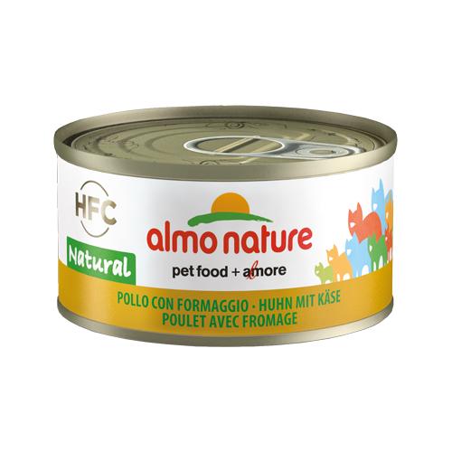 Almo Nature HFC 70 Natural Katzenfutter - Dosen - Huhn & Käse