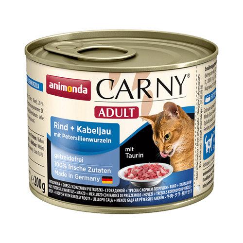 Animonda Carny Adult Katzenfutter - Dosen - Rind, Kabeljau & Petersilie - 6 x 200 g