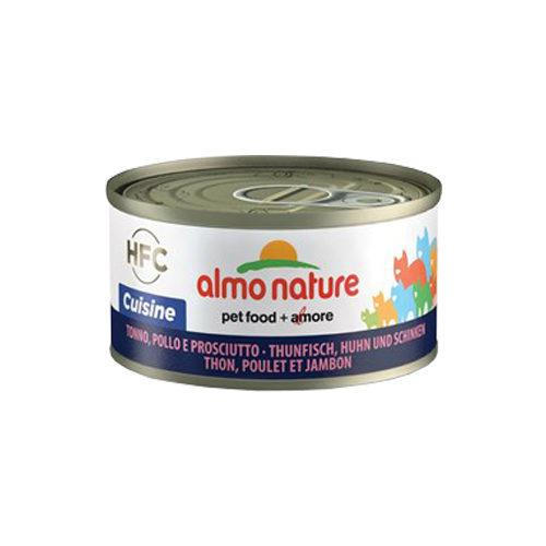 Almo Nature HFC 70 Cuisine Katzenfutter - Thunfisch, Huhn & Schinken