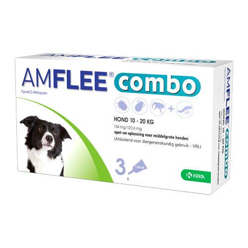Amflee Combo Spot-on Hund 134 mg - 10 - 20 kg - 3 Pipetten