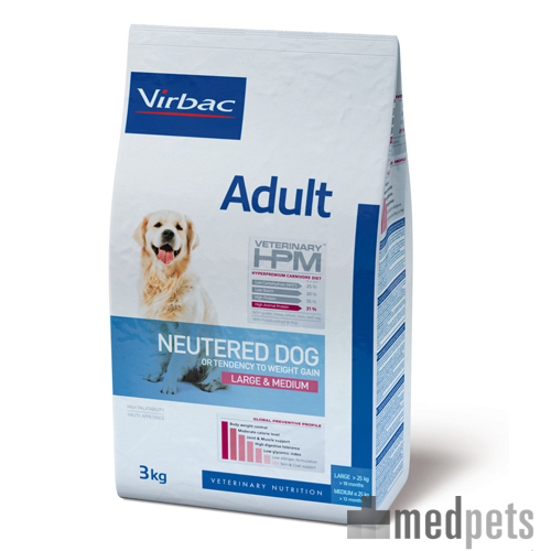 Veterinary HPM Adult Large & Medium Neutered Hundefutter