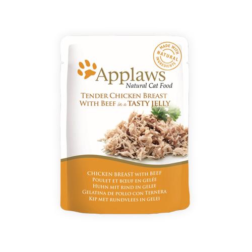 Applaws in Jelly Katzenfutter - Frischebeutel - Chicken Breast & Beef