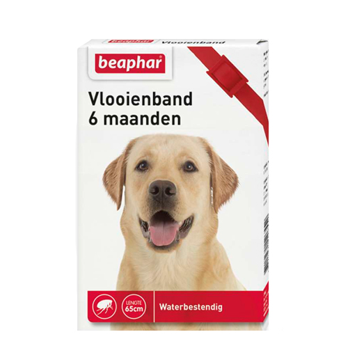 Beaphar Flohhalsband Hund 6 Monate - Rot