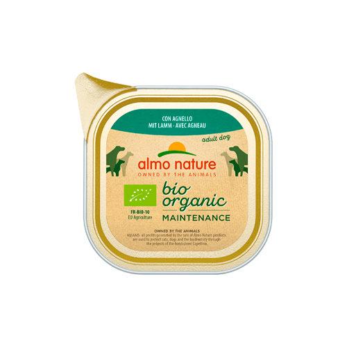 Almo Nature Bio Organic Maintenance Hundefutter - Schälchen - Lamm - 32 x 100 g
