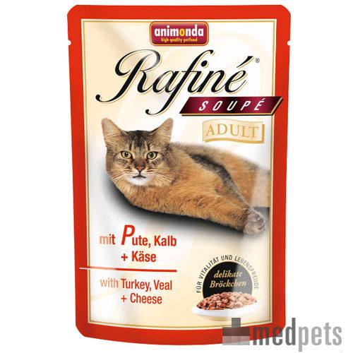 Animonda Rafiné Soupé Adult Katzenfutter - Frischebeutel - Pute, Kalb & Käse - 12 x 100 g