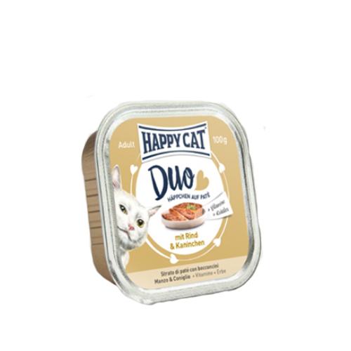 Happy Cat Duo Menü Katzenfutter - Schälchen - Rind & Kaninchen