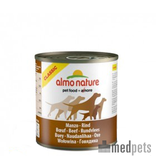 Almo Nature Classic Adult Hundefutter - Dosen - Rind