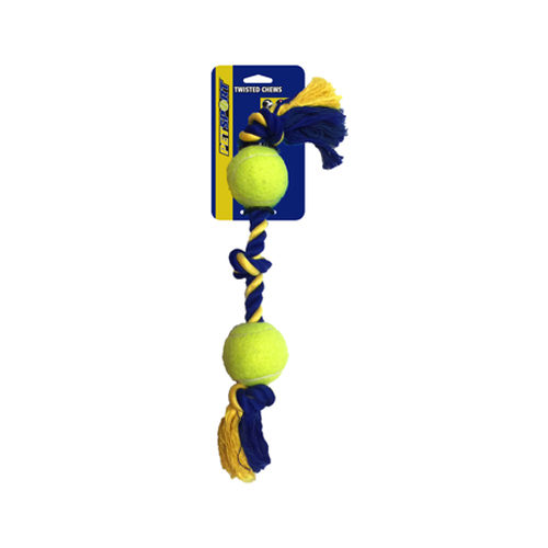 Petsport Medium 3-Knot Cotton Rope with 2 Tuff Balls