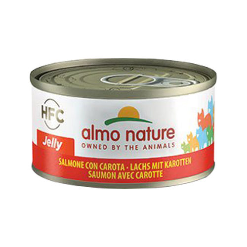Almo Nature HFC 70 Jelly Katzenfutter - Dosen - Lachs & Karotte