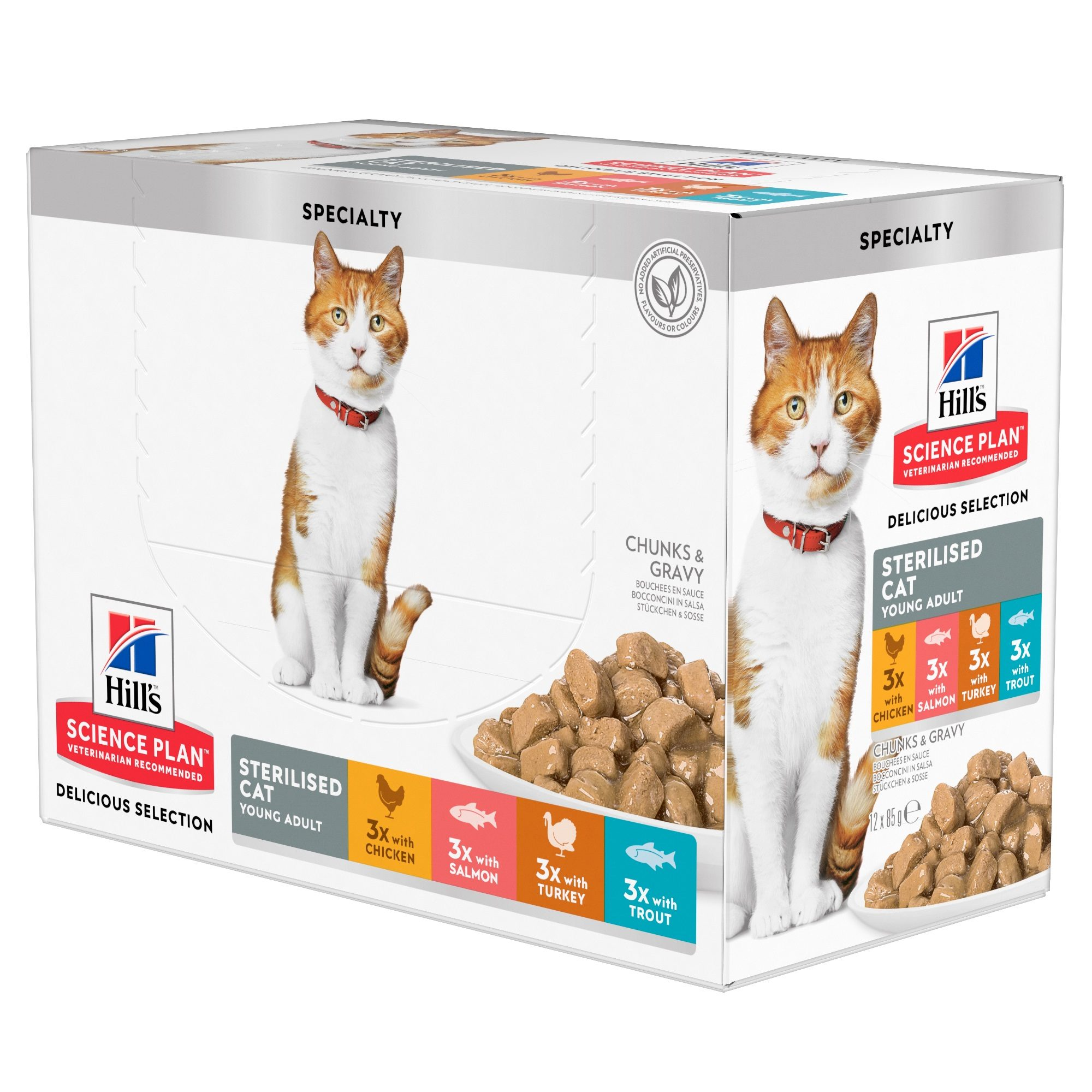 Hill's Science Plan Sterilised Young Adult Katzenfutter - Frischebeutel Multipack
