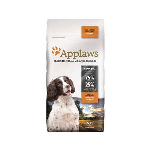 Applaws Adult Small & Medium Hundefutter - Huhn - 2 kg
