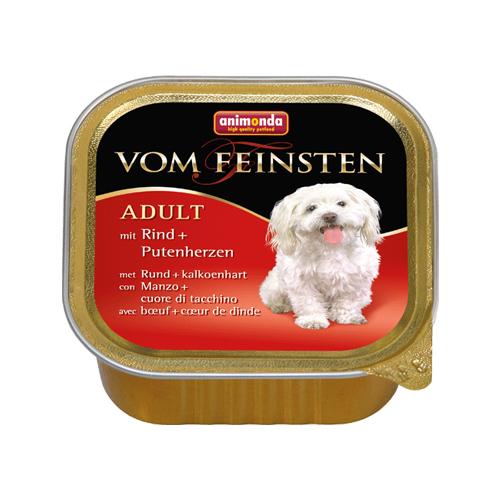 Animonda Vom feinsten Classic Hundefutter - Schälchen - Rind / Putenherzen