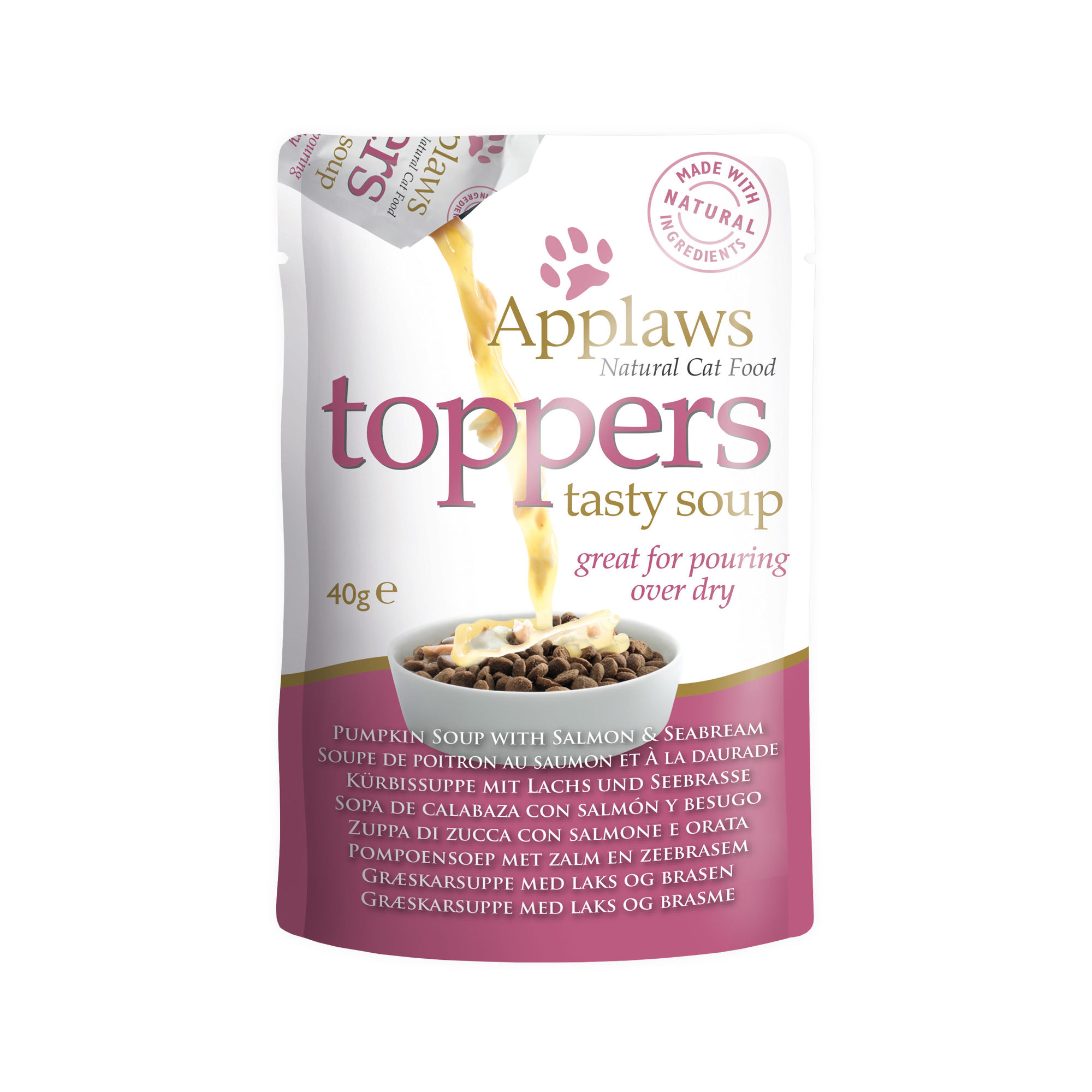 Applaws Toppers Tasty Soup Katzenfutter - Frischebeutel - Salmon & Seabream