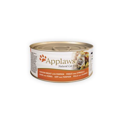 Applaws Katzenfutter - Dosen - Chicken Breast & Pumpkin - 24 x 156 g