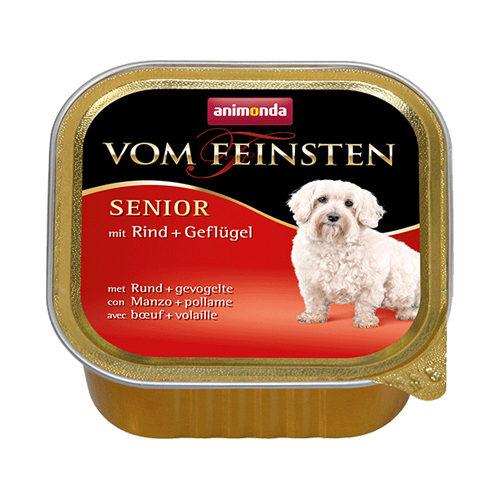 Animonda Vom Feinsten Senior Hundefutter - Schälchen - Rind & Huhn