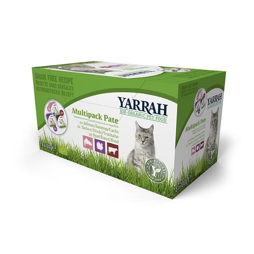 Yarrah Multipack Bio Paté Katzenfutter - Schälchen