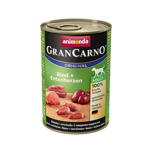 Animonda GranCarno Original Adult Hundefutter - Dosen - Rind & Ente