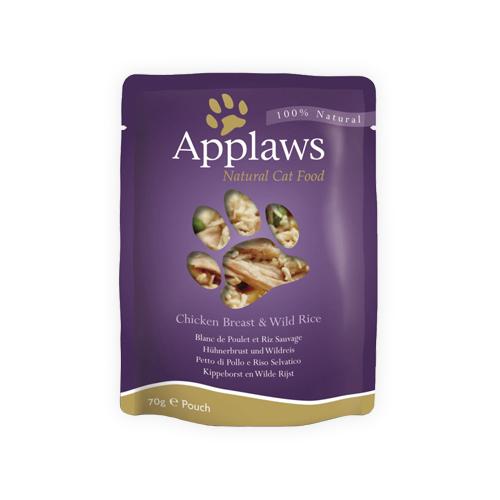 Applaws in Broth Katzenfutter - Frischebeutel - Chicken Breast & Wild Rice