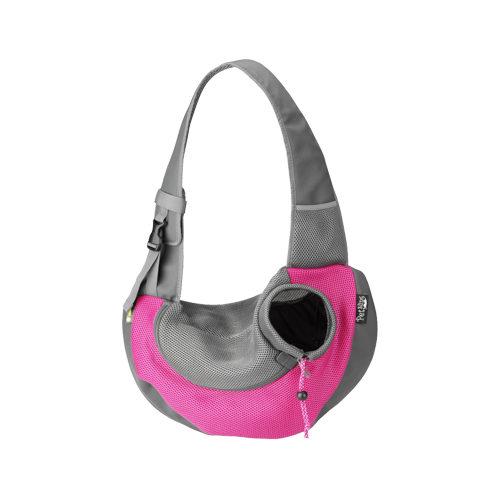 Crazy Paws Nylon Hundetragetasche - Rosa