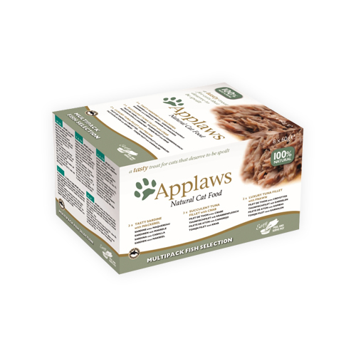 Applaws Multipack Katzenfutter - Frischebeutel - Fish Selection