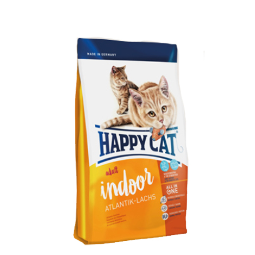 Happy Cat Adult Indoor Katzenfutter - Atlantik-Lachs