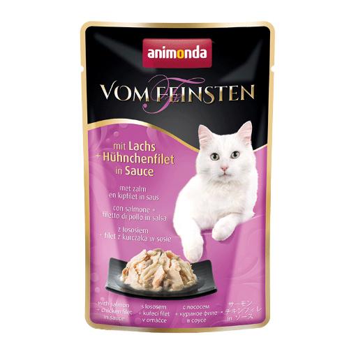 Animonda Vom Feinsten Katzenfutter - Frischebeutel - Lachs & Hühnchenfilet