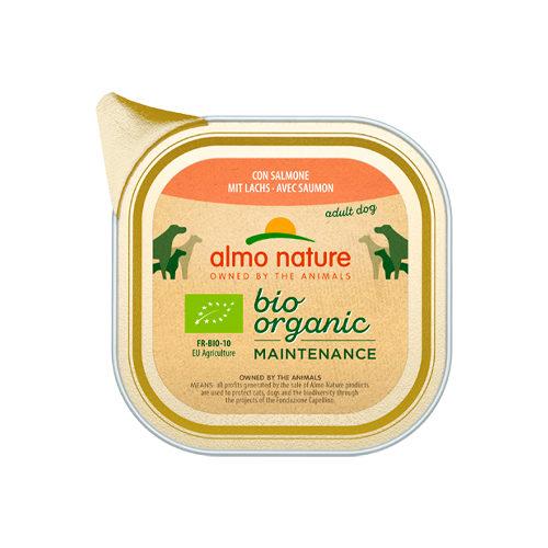Almo Nature Bio Organic Maintenance Hundefutter - Schälchen - Lachs
