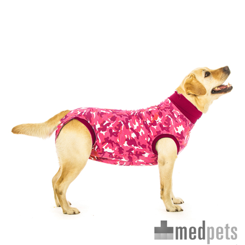 Suitical Recovery Suit Hund - Rosa Camouflage