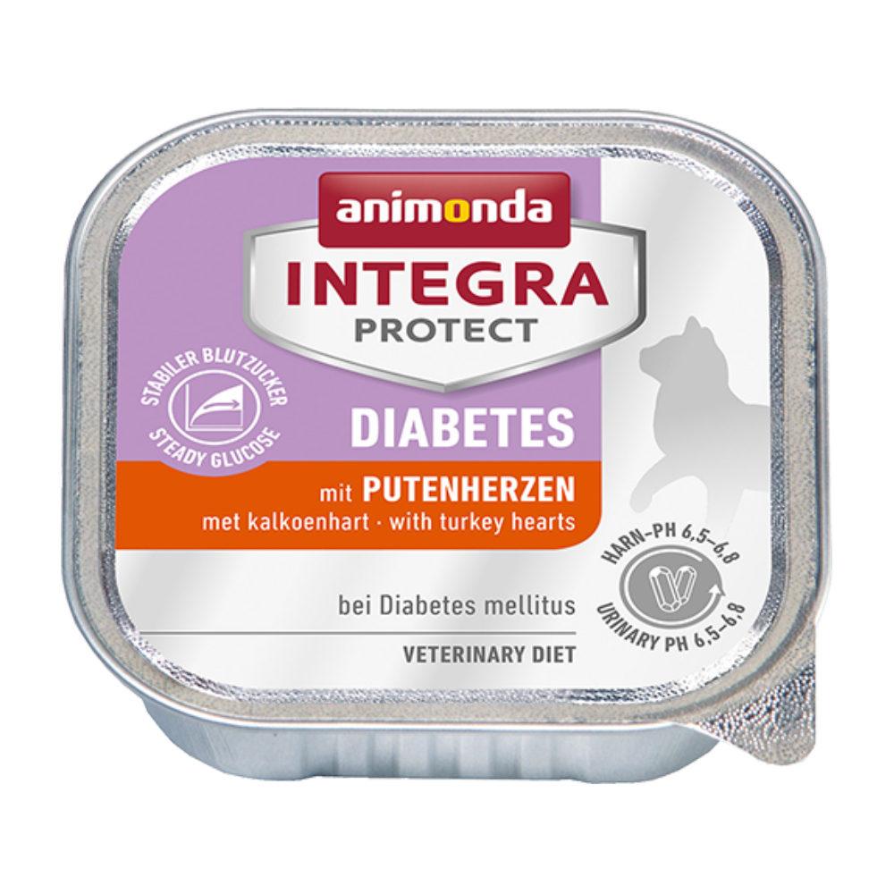 Animonda Integra Protect Diabetes Katzenfutter - Schälchen - Putenherz