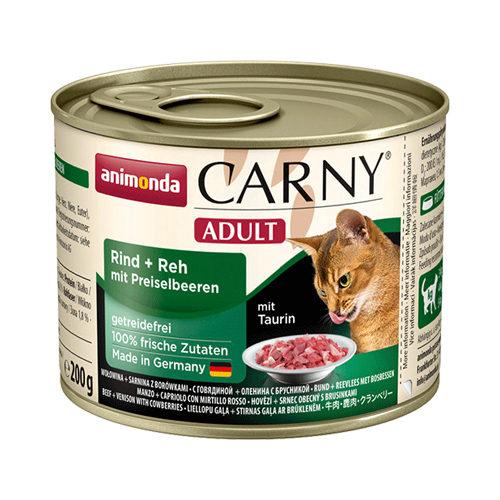 Animonda Carny Adult Katzenfutter - Dosen - Rind, Reh & Preiselbeeren - 6 x 200 g