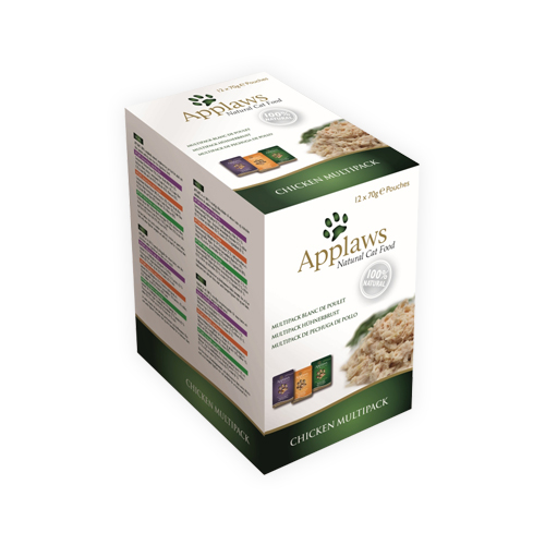 Applaws Multipack Katzenfutter - Frischebeutel - Chicken in Broth