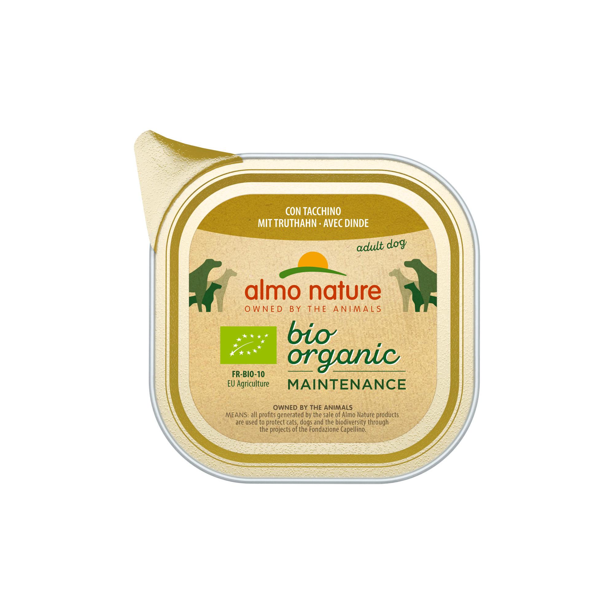 Almo Nature Bio Organic Maintenance Hundefutter - Schälchen - Pute