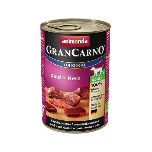 Animonda GranCarno Original Adult Hundefutter - Dosen - Rind & Herz