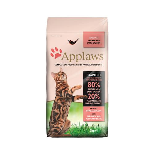 Applaws Adult Katzenfutter - Huhn & Lachs - 2 kg