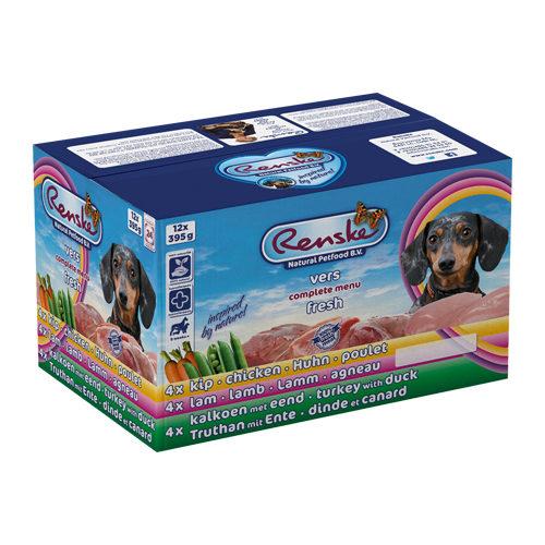 Renske Frischfleisch-Multipack Hundefutter - Schälchen