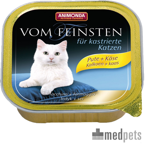 Animonda Vom Feinsten kastrierte Katzenfutter - Schälchen - Pute/Käse