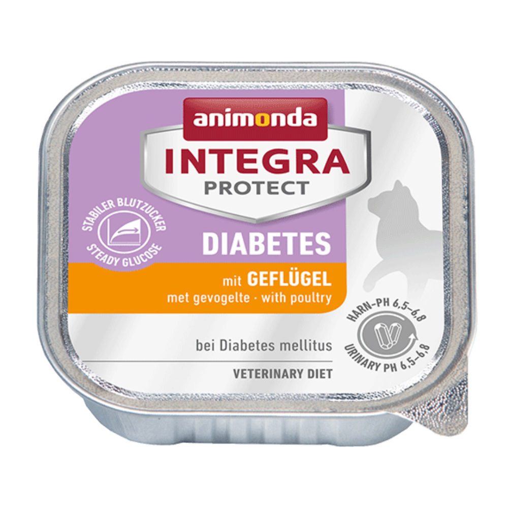 Animonda Integra Protect Diabetes Katzenfutter - Schälchen - Geflügel