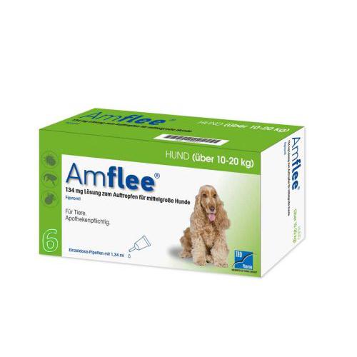 Amflee Spot-on Hund - 134 mg - 6 Pipetten