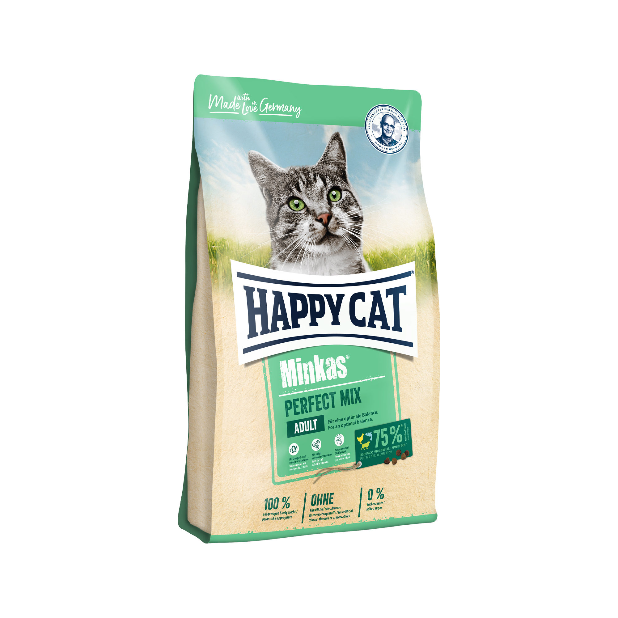 Happy Cat Minkas Perfect Mix Adult Katzenfutter - Geflügel, Lamm & Fisch