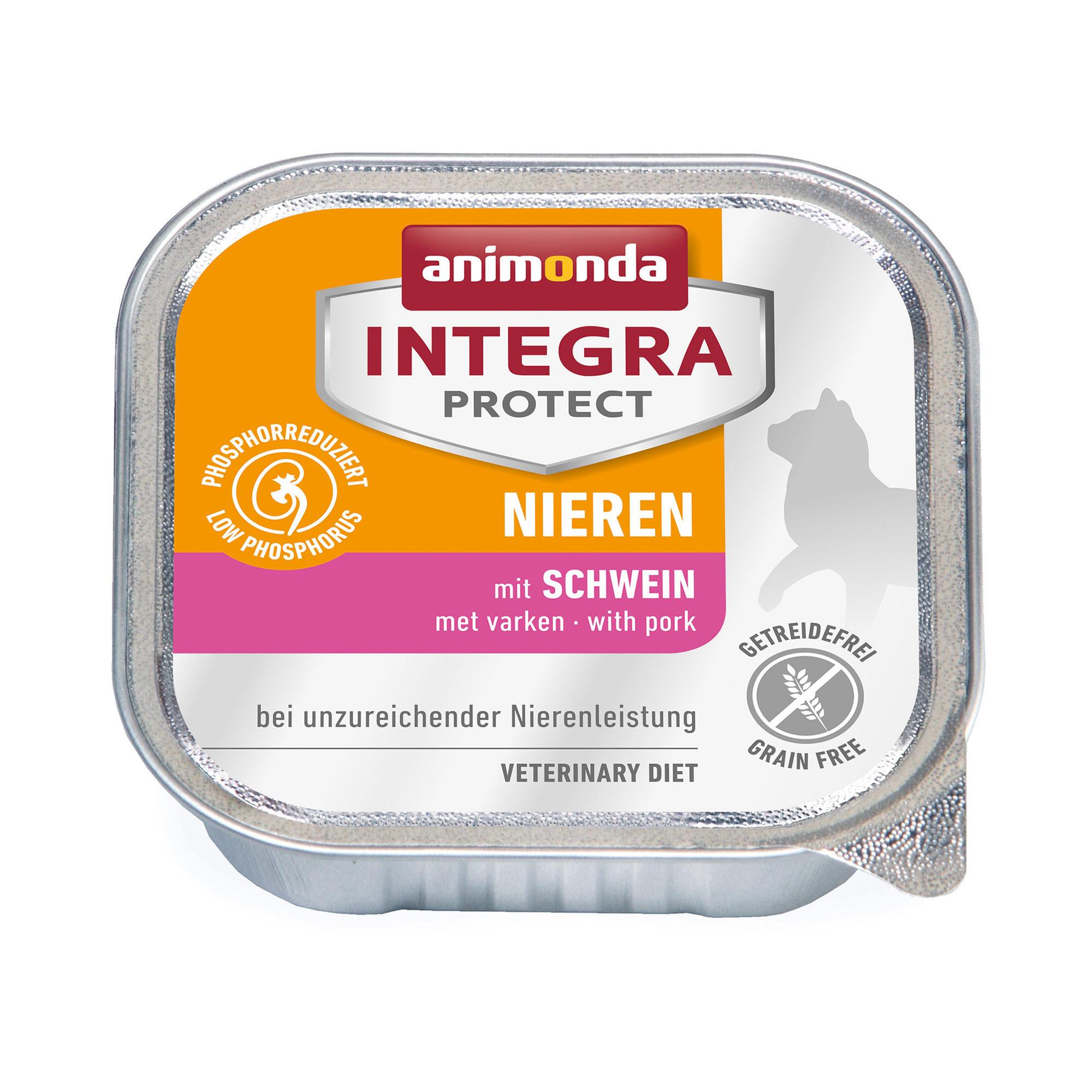 Animonda Integra Protect Nieren Katzenfutter - Schälchen - Schwein