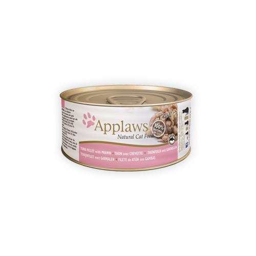 Applaws Katzenfutter - Dosen - Tuna Fillet & Prawn - 24 x 156 g