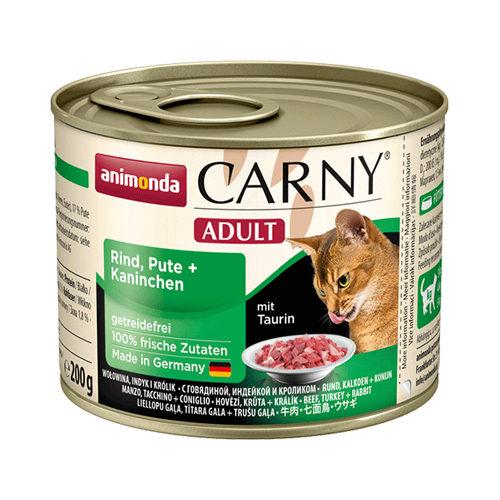 Animonda Carny Adult Katzenfutter - Dosen - Rind, Pute & Kaninchen - 6 x 200 g