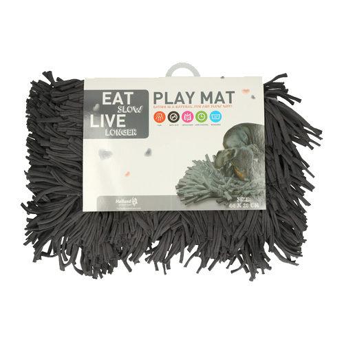 Eat Slow Live Longer Play Mat - Anthrazit