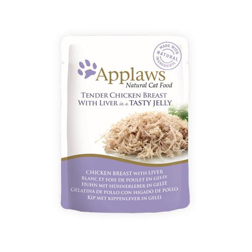 Applaws in Jelly Katzenfutter - Frischebeutel - Chicken Breast & Liver