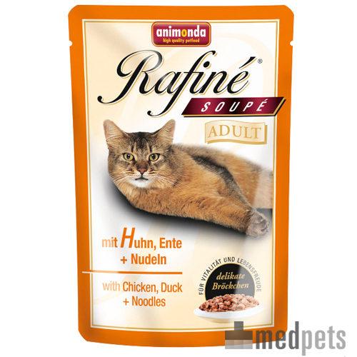Animonda Rafiné Soupé Adult Katzenfutter - Frischebeutel - Huhn, Ente & Nudeln